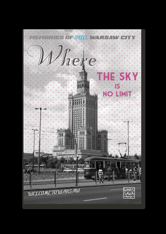 POCZTÓWKA PAŁAC WHERE THE SKY IS NO LIMIT